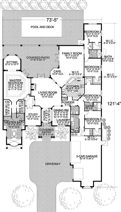 nice floor plans plan w32193aa mediterranean nice floor plan culture scribe