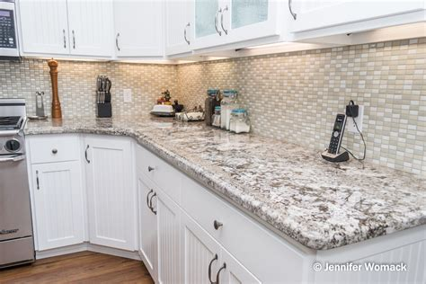 Red Kitchen With White Cabinets by Kitchen Tile Gallery Ceramic Designs