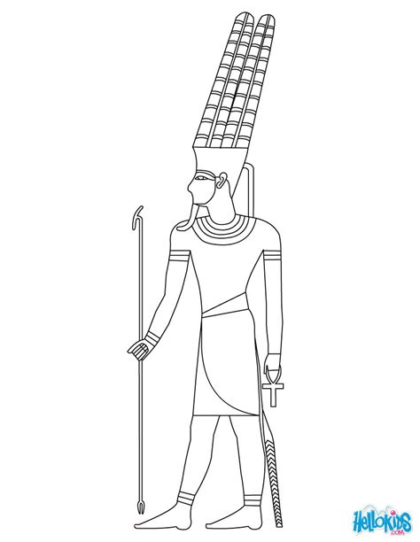 Pharaoh Coloring Pages Hellokids Com Pharaoh Coloring Pages