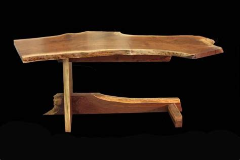 custom made live edge desk by blunt woodworks custommade