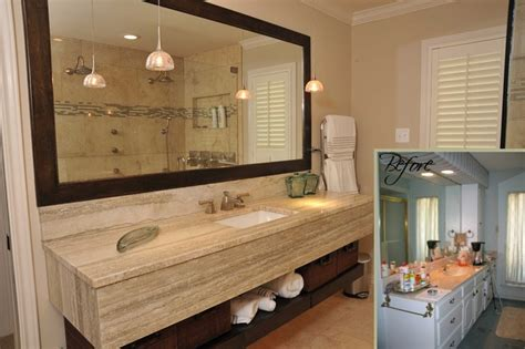 before and after bathroom remodels traditional