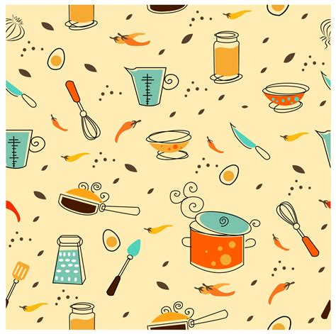 kitchen pattern vector free kitchen utensil free vector 4vector