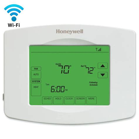 Honeywell Wi Fi Programmable Touchscreen Thermostat   Free App RTH8580WF   The Home Depot