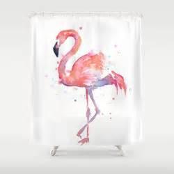 Flamingo Shower Curtains Flamingo Shower Curtain By Olechka Society6