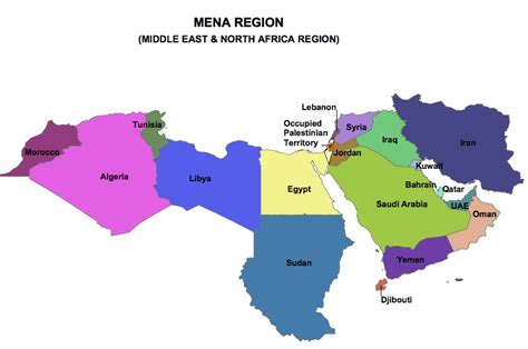 middle east map africa the changing of the mena region breaking news sky