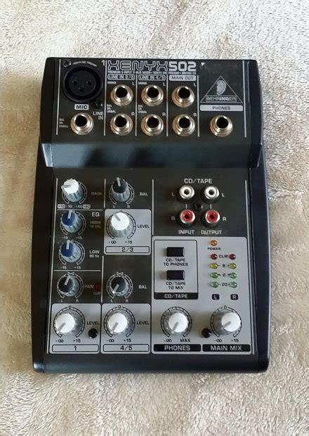 Mixer Behringer Xenyx 502 behringer xenyx 502 mixer 5 input reverb