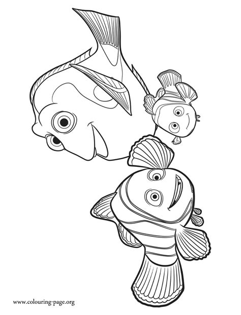 disney movie printable coloring pages finding dory marlin nemo and dory coloring page