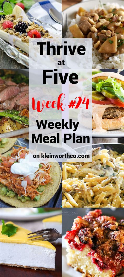 thrive at five meal plan week 24 kleinworth co