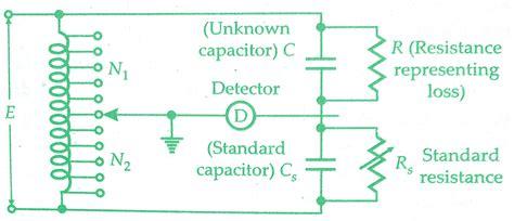 capacitor inductor bridge measurement of capacitance by transformer ratio bridge