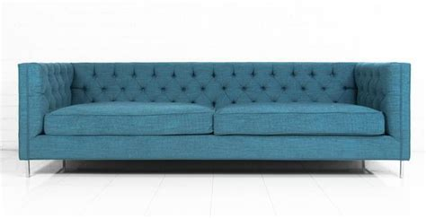 Turquoise Tufted Sofa by Finn Turquoise Sofa