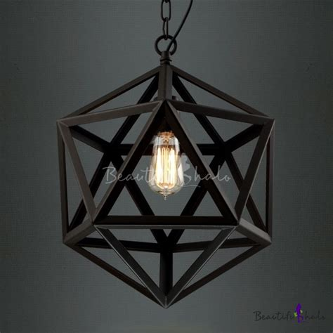 star of david black finished cage industrial suspension