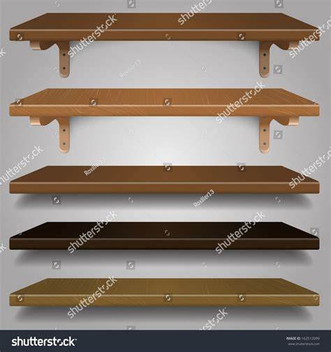 Shelf Types by Vector Set Wood Shelves Different Types And Colors