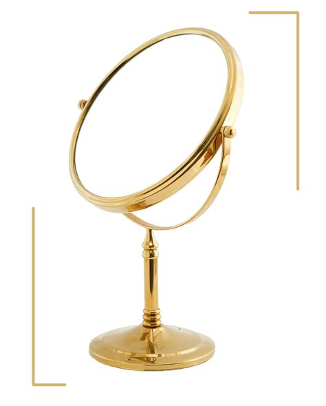 gold 8 quot magnifying mirror for bath makeup wall mounted dolphy gold 5x magnification tabletop shaving makeup