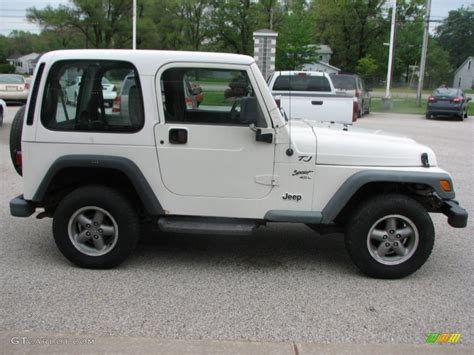 white 2000 jeep wrangler sport 4x4 exterior photo 81555832 gtcarlot