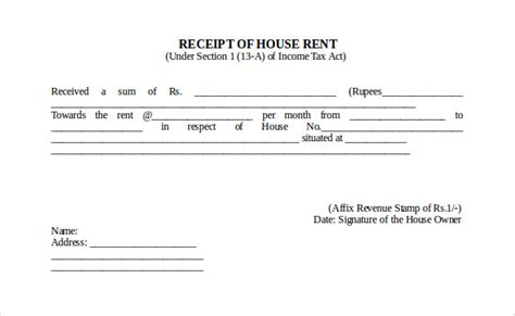 rent receipt template docs 35 rental receipt templates doc pdf excel free
