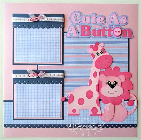 scrap book pictures blj studio as a button baby scrapbook page
