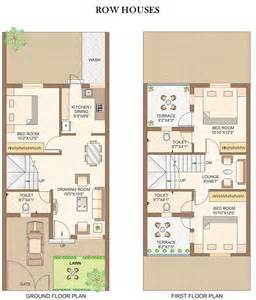 row house floor plan row house floor plans in india