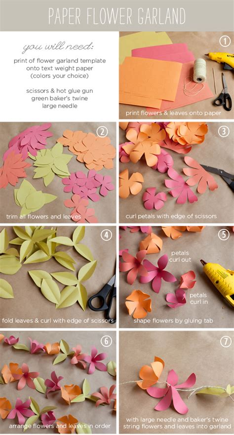 paper flower garland template paper flower templates printable car interior design
