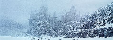 harry potter winter at harry potter christmas snow winter mine hogwarts hp hpgraphic hpgifs hpedit harrypotteredit one
