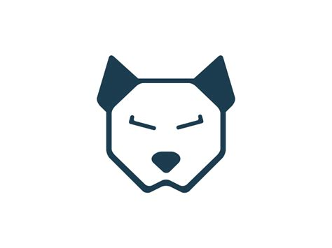 dogs logo dribbble logo by salavat abdullin