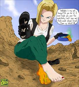 0006 android 18 commission by fetishzone on deviantart