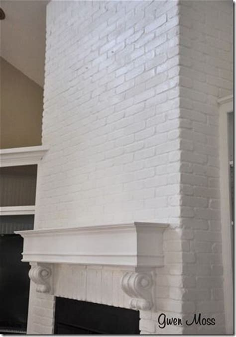 chalk paint on brick before and after my white chalk painted fireplace how to