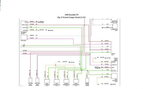 wiring diagram for headlight of 1990 379 peterbilt