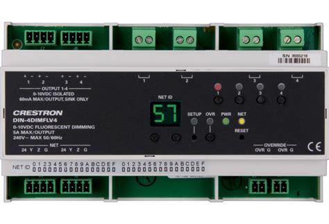dim light for feeds din 4dimflv4 din rail 0 10v fluorescent dimmer 4 feeds