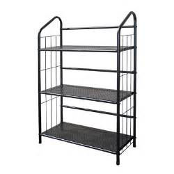 patio plant shelves black outdoor patio plant stand casual metal bookcase 3