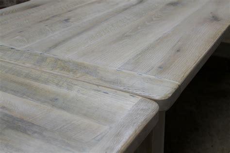 white washed farm table  custom trestle ecustomfinishes