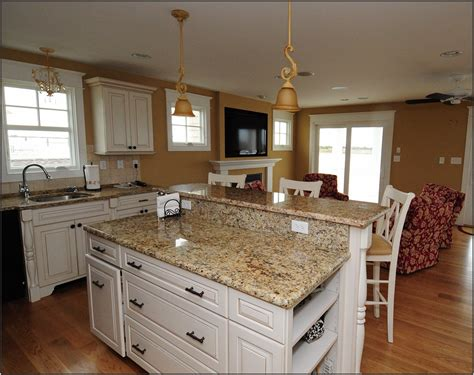 bathroom white kitchen cabinet and colonial granite countertops with kitchen island also