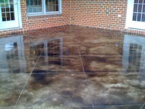 How To Acid Stain Concrete Patio by Stained Concrete Patio Ideas How Do You Stain Concrete