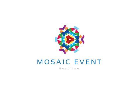 mosaic pattern logos mosaic event company logo logo templates creative market