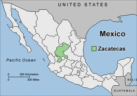 map of mexico zacatecas mexico map zacatecas