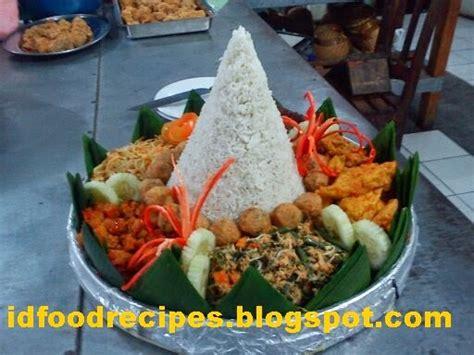 cara membuat nasi uduk dalam jumlah banyak resep nasi tumpeng putih komplit indonesian food recipes