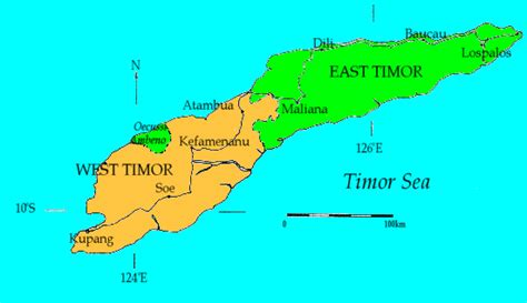 where is east timor on the map west timor