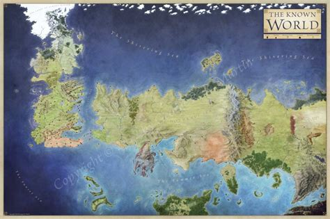 got map official world map of a song of and fantastic maps