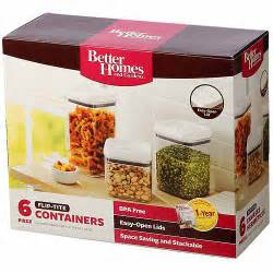 Glass Kitchen Canister Sets better homes and gardens flip tite 6 piece storage set