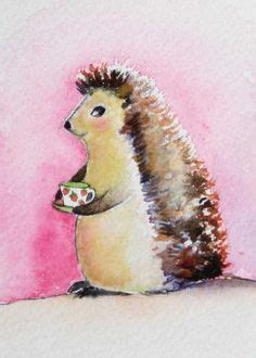 Imogen Strawberry Original hedgehog watercolour painting by juan bosco why don t