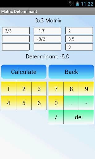 Calculator Determinant | download matrix determinant calculator for android by gk
