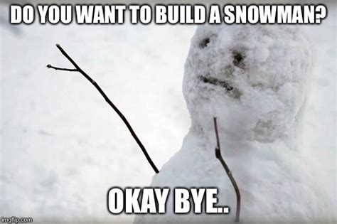Do You Want To Build A Snowman Meme - frozen imgflip