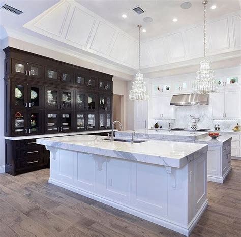 double kitchen islands best 25 double island kitchen ideas on pinterest