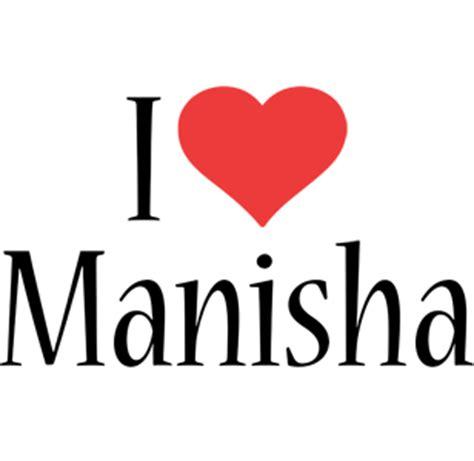 manisha logo  logo generator  love love heart