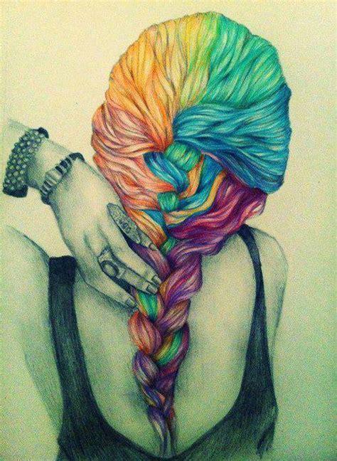 hairstyles color drawing pelo de colores tumblr
