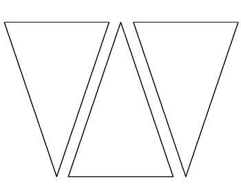 blank pennant template   plain pennant create