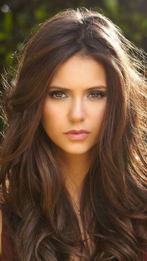 most beautiful blonde actresses under 30 nina dobrev brunette beautiful actress 720x1280