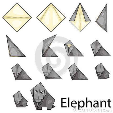 Origami Illustrator - illustrator of elephent origami royalty free stock photo