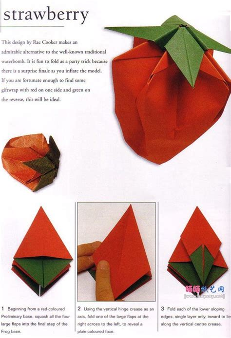 How To Make A Paper Strawberry - how to make a paper strawberry 28 images origami
