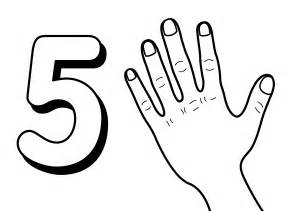5 Coloring Page free printable number coloring pages for