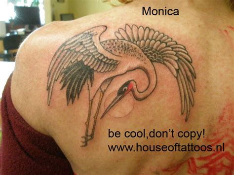 monica tattoos crane